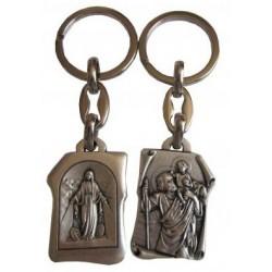 Porte-clés parchemin Saint Christophe VM