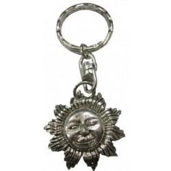 Porte-clés soleil argenté