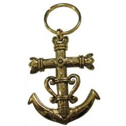 Porte-clés croix de Camargue doré