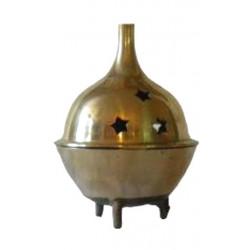 Porte encens couvercle boule