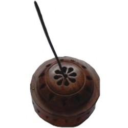 support boite ronde bois