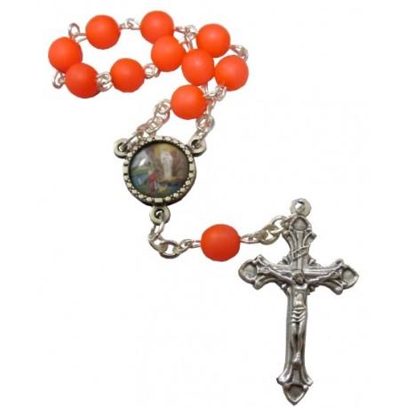 Dizainier orange fluo Lourdes