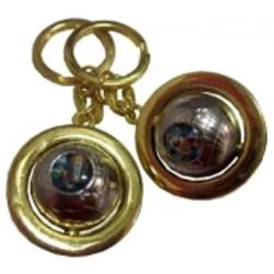 Porte-clés mappemonde NDL & Saint Christophe