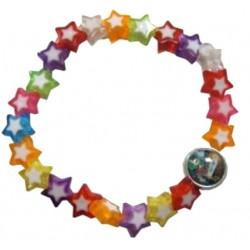 Bracelet étoiles multicolores NDL