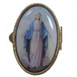 Boite ovale Vierge Miraculeuse