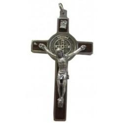 Croix marron Saint Benoît 7cm