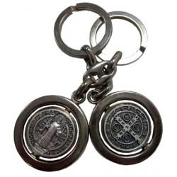 Porte-clés rond pivotant Saint Benoit