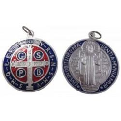 Médaille de porte couleur Saint Benoit 10 cm