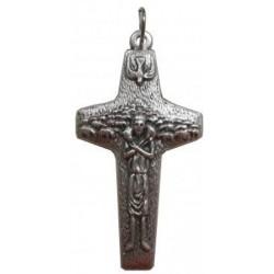 Croix métal argenté Pape François