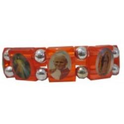 Bracelet rouge plastique Multisaints