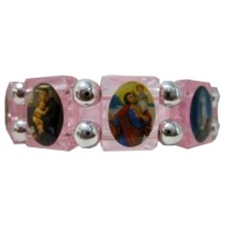 Bracelet multisaints rose