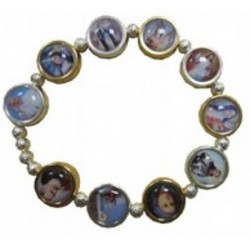 Bracelet métal doré argenté saints