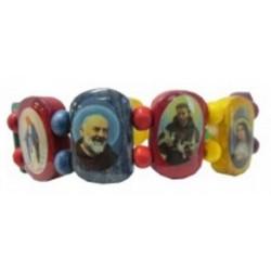 Bracelet bois couleur Multisaints