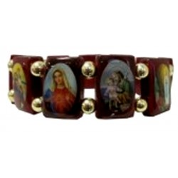Bracelet bois multisaints