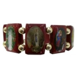 Bracelet bois Apparitions Mariales
