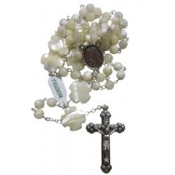 Chapelet nacre croix