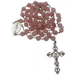 Chapelet quartz rose
