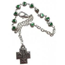 Dizainier bracelet coeur vert