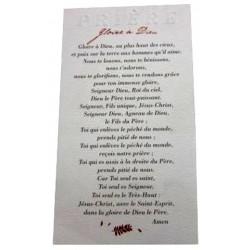 Carte prière gloire à Dieu