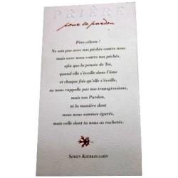 Carte prière pour le pardon