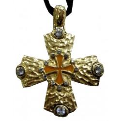 Croix occitane métal doré