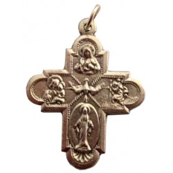 Croix métal argenté