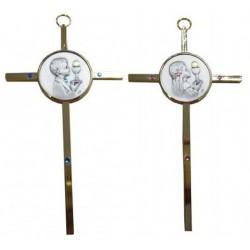 Croix métal doré fille ou garcon