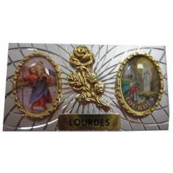 Plaque auto Saint Christophe Notre Dame de Lourdes