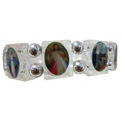 Bracelet multisaints transparent