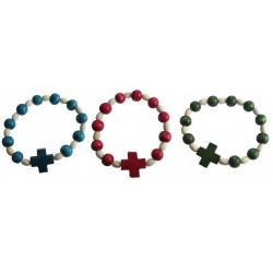 Bracelet bois dizainier rouge, bleu ou vert