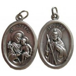 Médaille ovale Saint Joseph Saint Jude