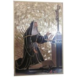 Cadre mozaïque Sainte Rita