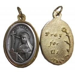 Médaille ovale Sainte Rita