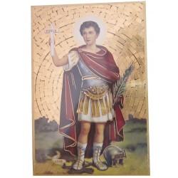 Cadre mosaïque Saint Expédit