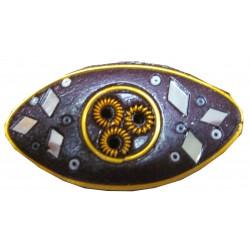 Porte encens ovale violet