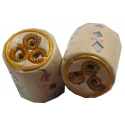 Porte encens cylindrique beige