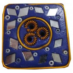 Porte encens carré violet