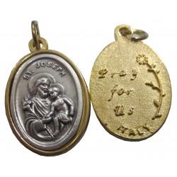 Médaille ovale Saint Joseph