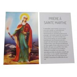 Carte prière Sainte Marthe