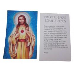 Carte prière Sacré Coeur de Jésus