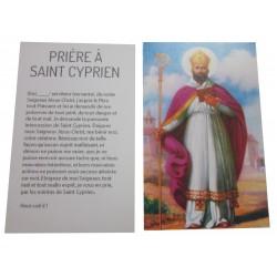 Carte prière Saint Cyprien