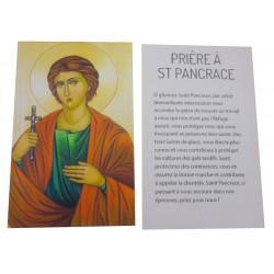 Carte prière Saint Pancrace
