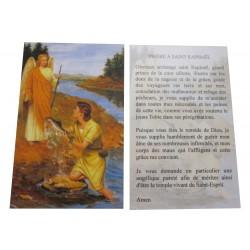 Carte prière Archange Saint Raphaël