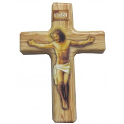 Magnet croix beige