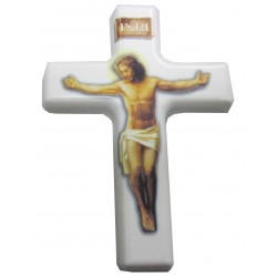Magnet croix blanche