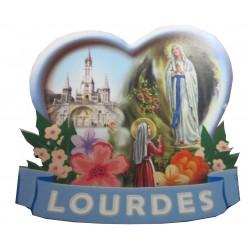 Magnet coeur Notre Dame de Lourdes