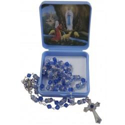 Chapelet Crystal bleu