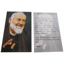 Carte prière Padré Pio