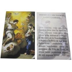 Carte prière Saint Gabriel Archange