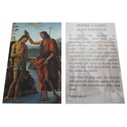 Carte prière Saint Jean Baptiste
